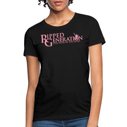Ripped Generation Gym Wear of the Gods Logo - Women's T-Shirt