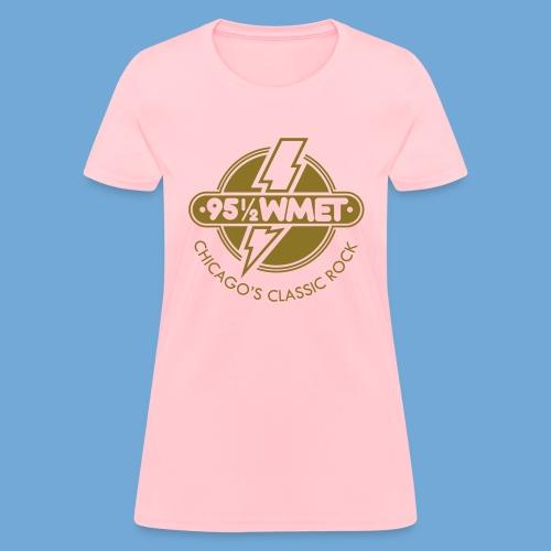 WMET logo (variable color) - Women's T-Shirt