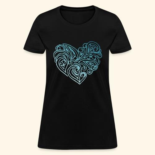 Coeur bleu - Women's T-Shirt