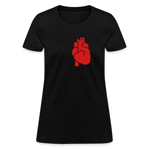 Realistic Heart - Women's T-Shirt