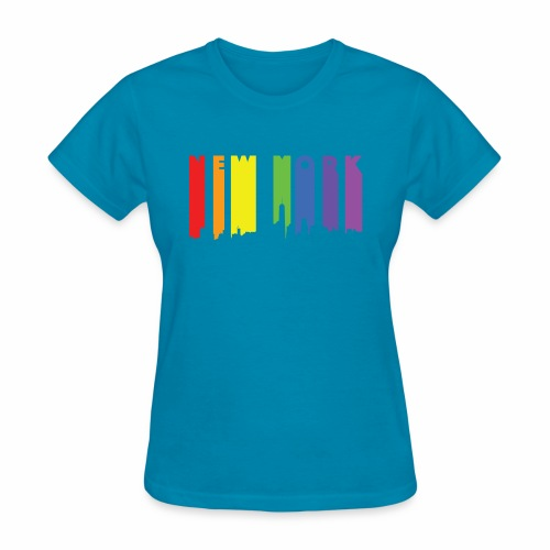 New York design Rainbow - Women's T-Shirt