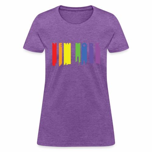 New York design Rainbow - Women's T-Shirt