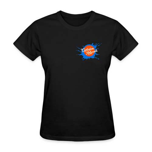 Black Explosion Network Pocket Tee - Women's T-Shirt