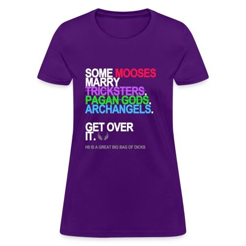 some mooses marry gods black shirt - Women's T-Shirt