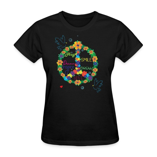 Floral Peace - Women's T-Shirt