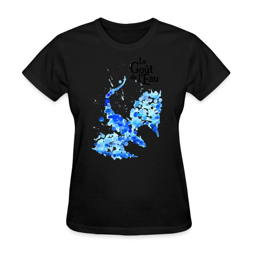Dragon gouttes logo noir png - T-shirt pour femmes
