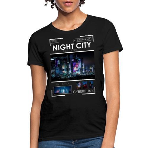 Night City Pacifica Skyline - Women's T-Shirt
