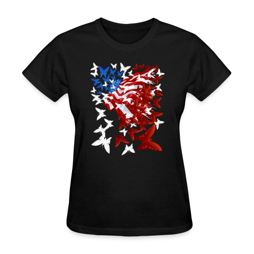 The Butterfly Flag - Women's T-Shirt