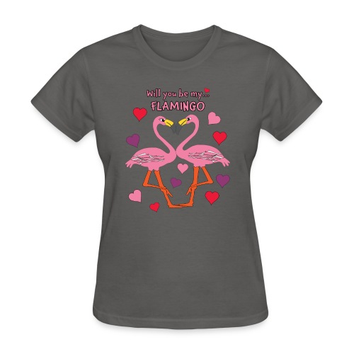 Will You be my Flamingo Valentine Kisses - Women's T-Shirt