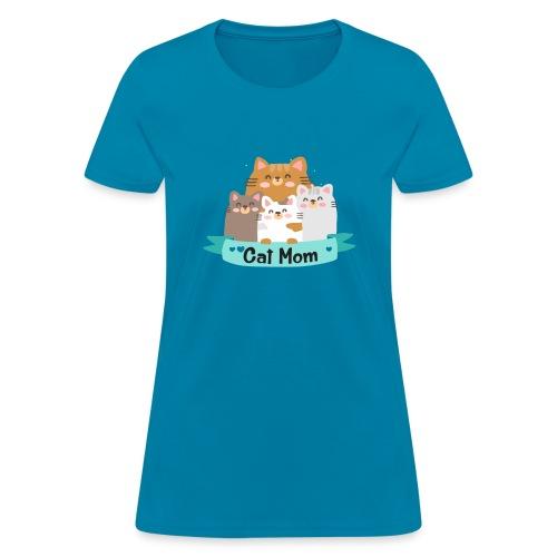 Cat MOM, Cat Mother, Cat Mum, Mother's Day - Women's T-Shirt