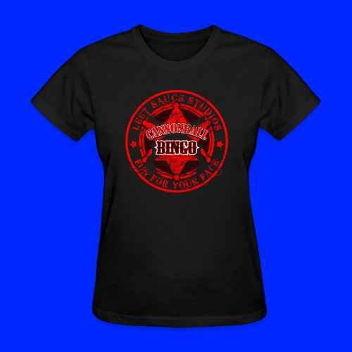 Vintage Cannonball Bingo Badge All Red - Women's T-Shirt