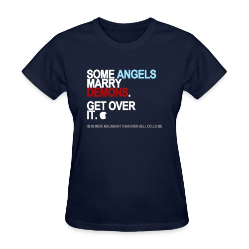 some angels marry demons black shirt - Women's T-Shirt