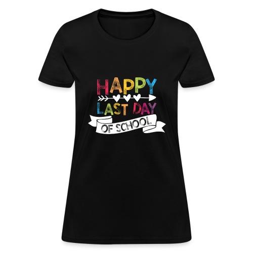 Happy Last Day of School Stamps Teacher T-Shirts - Women's T-Shirt