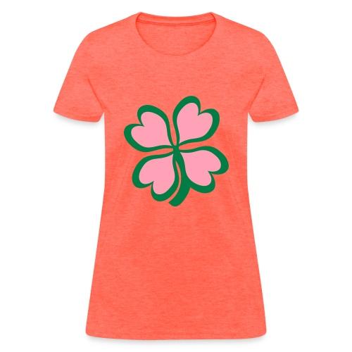 pinkhearts4leaf - Women's T-Shirt