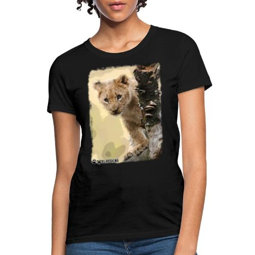 Lion Cub Peeking - Women's T-Shirt