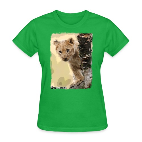 Lion Cub Peeking - Women's T-Shirt