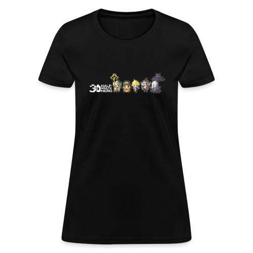 Half Minute Hero characters (White Logo) - Women's T-Shirt