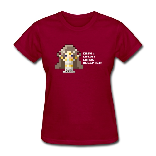 Time Goddess - Cash and Credit Cards (White text) - Women's T-Shirt