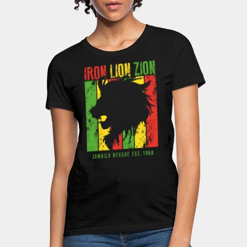 iron lion jamaica reggae - Women's T-Shirt
