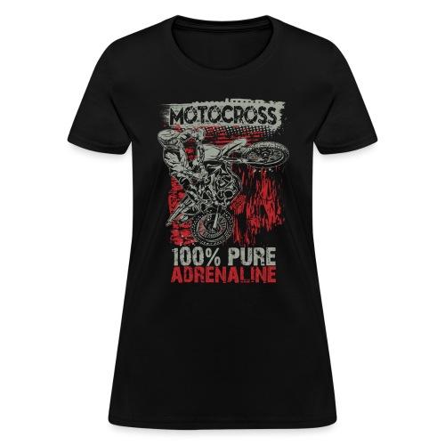 Motocross Pure Adrenaline - Women's T-Shirt