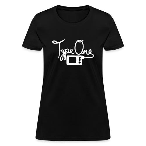 Type One - Insulin Pump 2- White - Women's T-Shirt