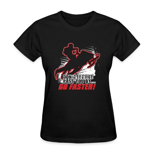 Snowmobile Faster Red - Women's T-Shirt