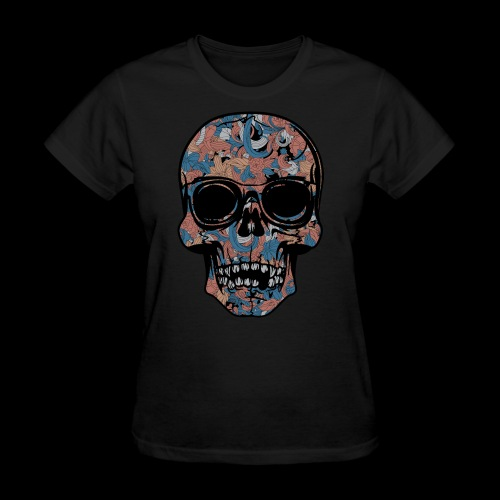 Abstract Skull With Sunglasses - Women's T-Shirt