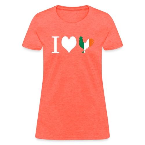 iheartirishrooster3 - Women's T-Shirt