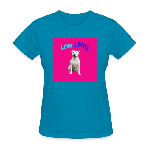 Pink Pit Bull - Women's T-Shirt
