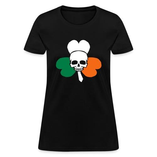 irish_skull_shamrock - Women's T-Shirt