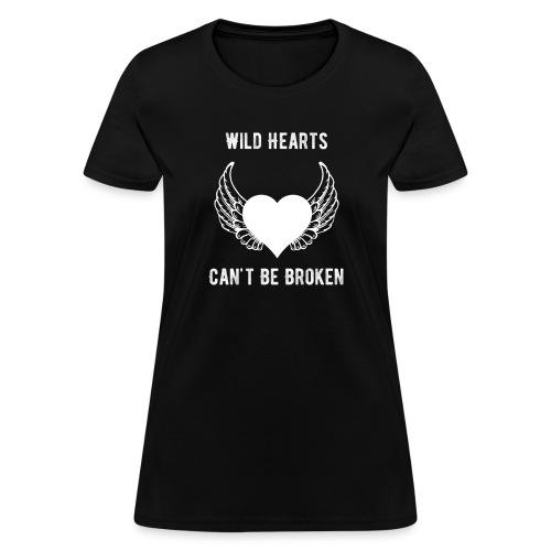 Wild Hearts Can't Be Broken Retro Biker Style - Women's T-Shirt
