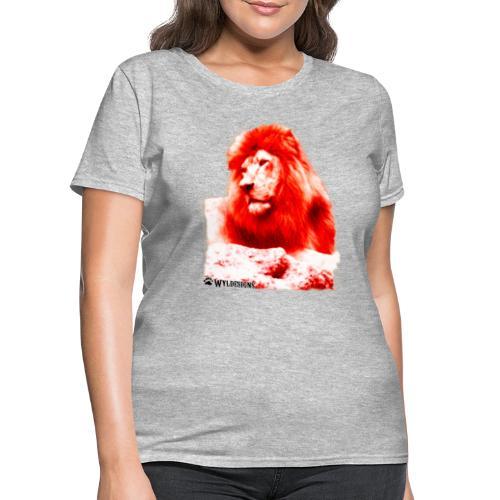 Lion Cutout Red - Women's T-Shirt
