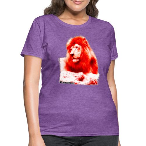 Lion Cutout Red - Women's T-Shirt