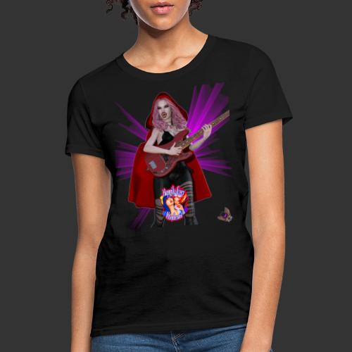 Happily Ever Undead: Blood Red Hood Bassist - Women's T-Shirt