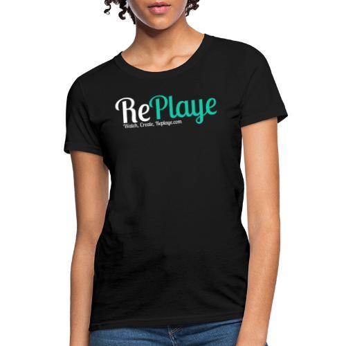 Replaye White on Black - Women's T-Shirt