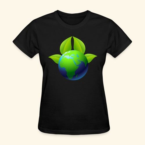 Earth with Leaves - Save the planet - Women's T-Shirt