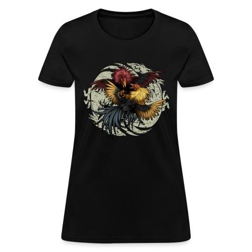 Ying Yang Gallos by Rollinlow - Women's T-Shirt
