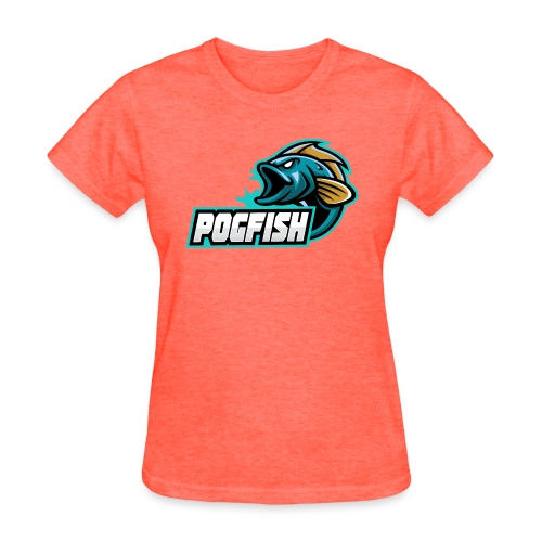 PogFish Text Logo - Women's T-Shirt