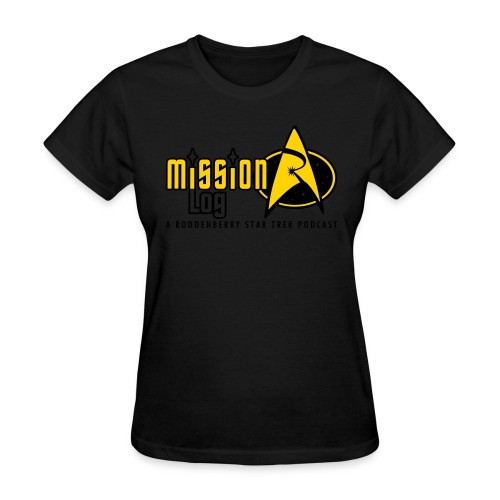 Logo Wide 2 Color Black Text - Women's T-Shirt