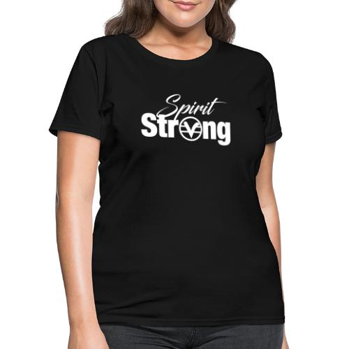 Spirit Strong Tee White (Women V Neck) - Women's T-Shirt