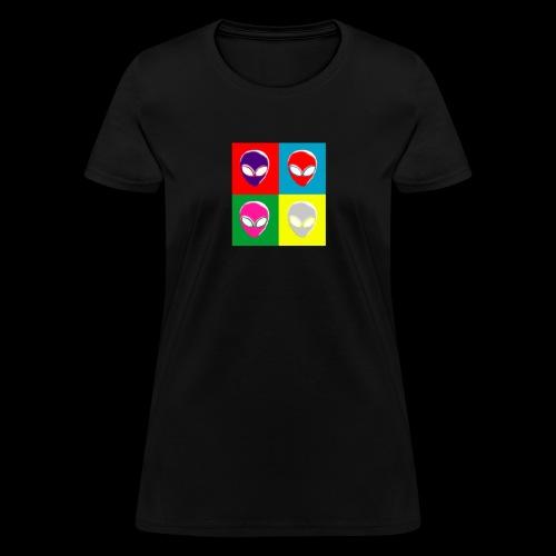 Hot Spaced Aliens - Women's T-Shirt