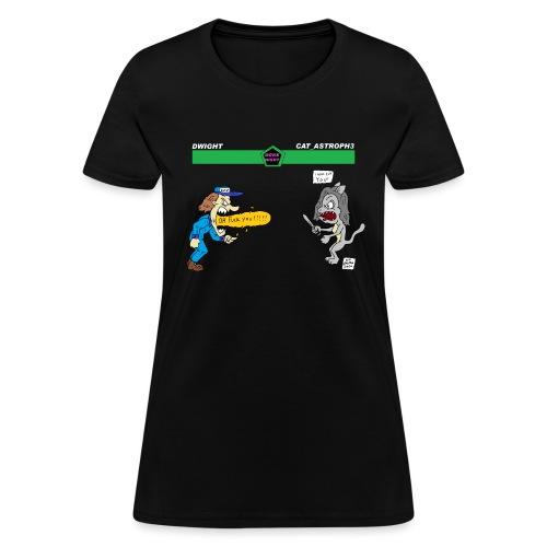 catcutter vs dwight - Women's T-Shirt