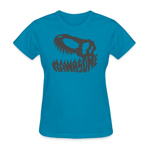 RAWRsome T Rex Skull by Beanie Draws - Women's T-Shirt