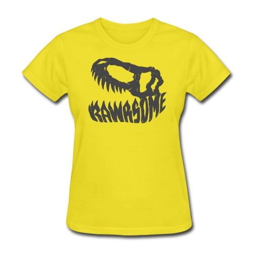 RAWRsome T Rex Skull by Beanie Draws - Women's T-Shirt