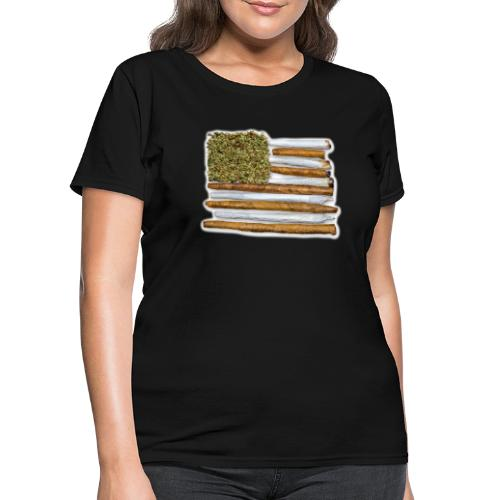 American Flag With Joint - Women's T-Shirt