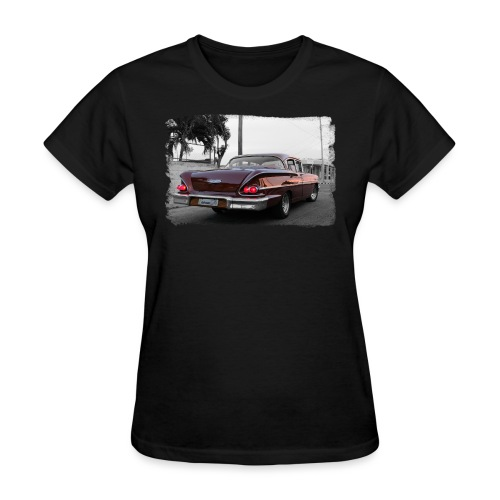 wine red car - Women's T-Shirt