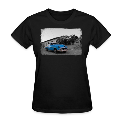 light blue car - Women's T-Shirt