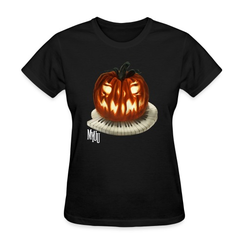 Piano Pumpkin - Women's T-Shirt
