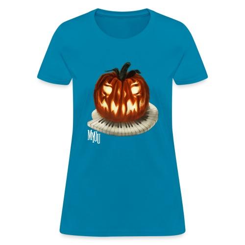 Piano Pumpkin - Women's T-Shirt