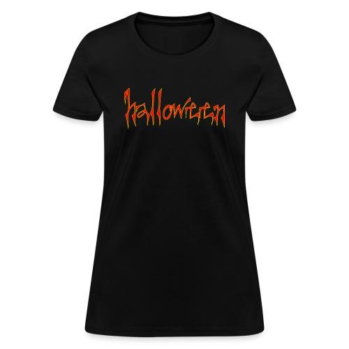 creepy halloween - Women's T-Shirt